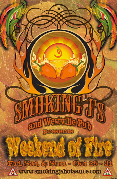 Limited Edition Weekend Of Fire Poster